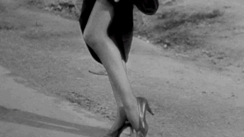 Hitchhiking Claudette Colbert GIF by Turner Classic Movies - Find & Share on GIPHY