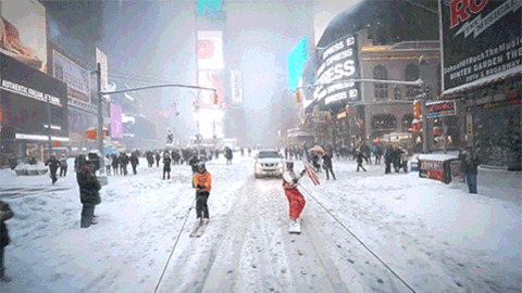 Time Square Snow GIF - Find & Share on GIPHY